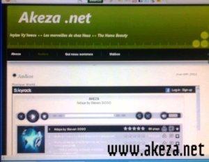 L'ancien template de Akeza.net