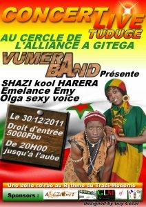 Affiche du Concert de shazi à Gitega (www.akeza.net)