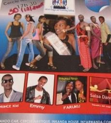 Affiche du défilé de mode de ce samedi (www.akeza.net)