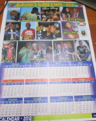 Calendrier Burundi Superstar 2012 (www.akeza.net)