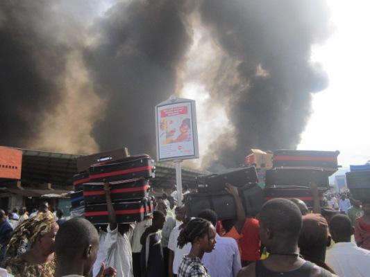 Le marché central de Bujumbura  a brulé  (www.akeza.net)