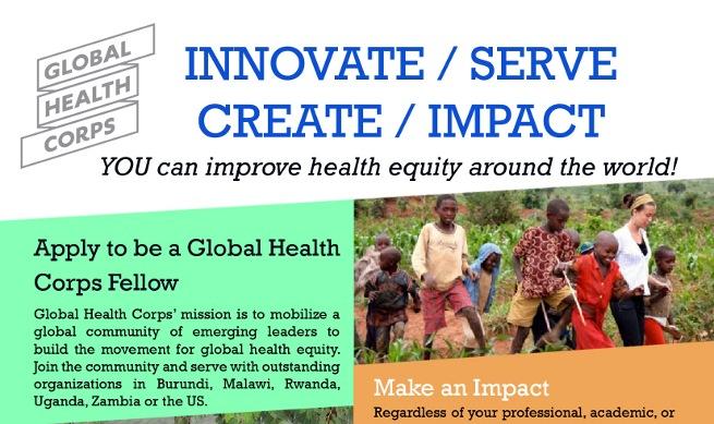 Global health Corps - Flyer