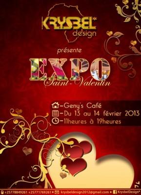 L'affiche de sa récente exposition au Geny's Café-Bujumbura (www.akeza.net)