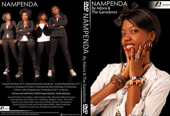 Pochette du DVD ''NAMPENDA'' de Adora & The Ganadores (www.akeza.net)