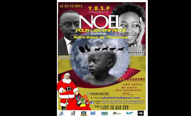 """L' affiche officielle de l'événement """"un noel pou les enfants"""" (www.akeza.net)"""