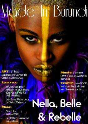 La couverture du 1er numéro du magazine ''Made In Burundi'' (www.akeza.net)