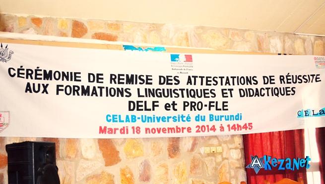 La banderole annonçant la tenue du déroulement. (www.akeza.net)