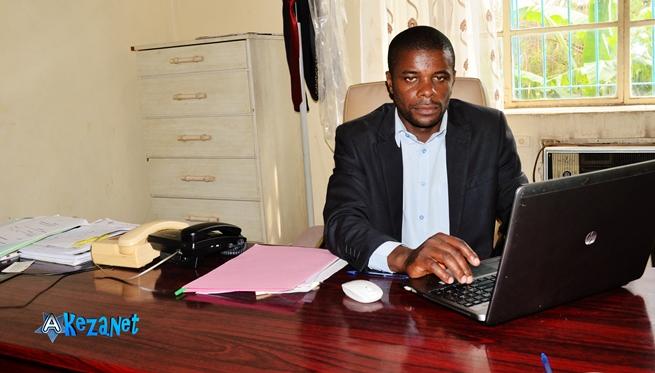Christophe Ndikuriyo , le Président de la commission chargé de l'organisation du marché de noël.©Akeza.net