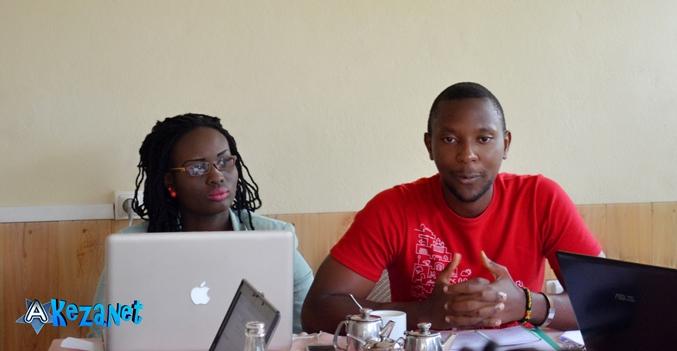 Alice Anny Akingabiye et André Hakizimana de l' agence.©Akeza.net