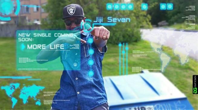 Flyer annonce d'un single de JIJI 7