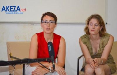 Stéphanie S.,La directrice déléguée et Geneviève V.R. ,la directrice de l'IFB lors du point de presse ©Akeza.net