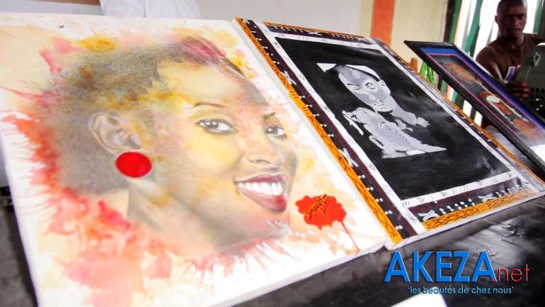 Quelques tableaux de Shaquille/Réalisés sur place lors de Académie des Talents 2015 ©Akeza.net