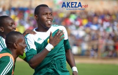 Laudit Mavugo , buteur de l'équipe INTAMBA suspendu pour le match retour en Ethiopie