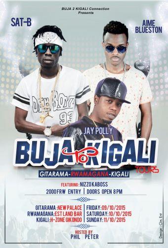 Affiche de la 1re étape de la tournée Buja 2 Kigali