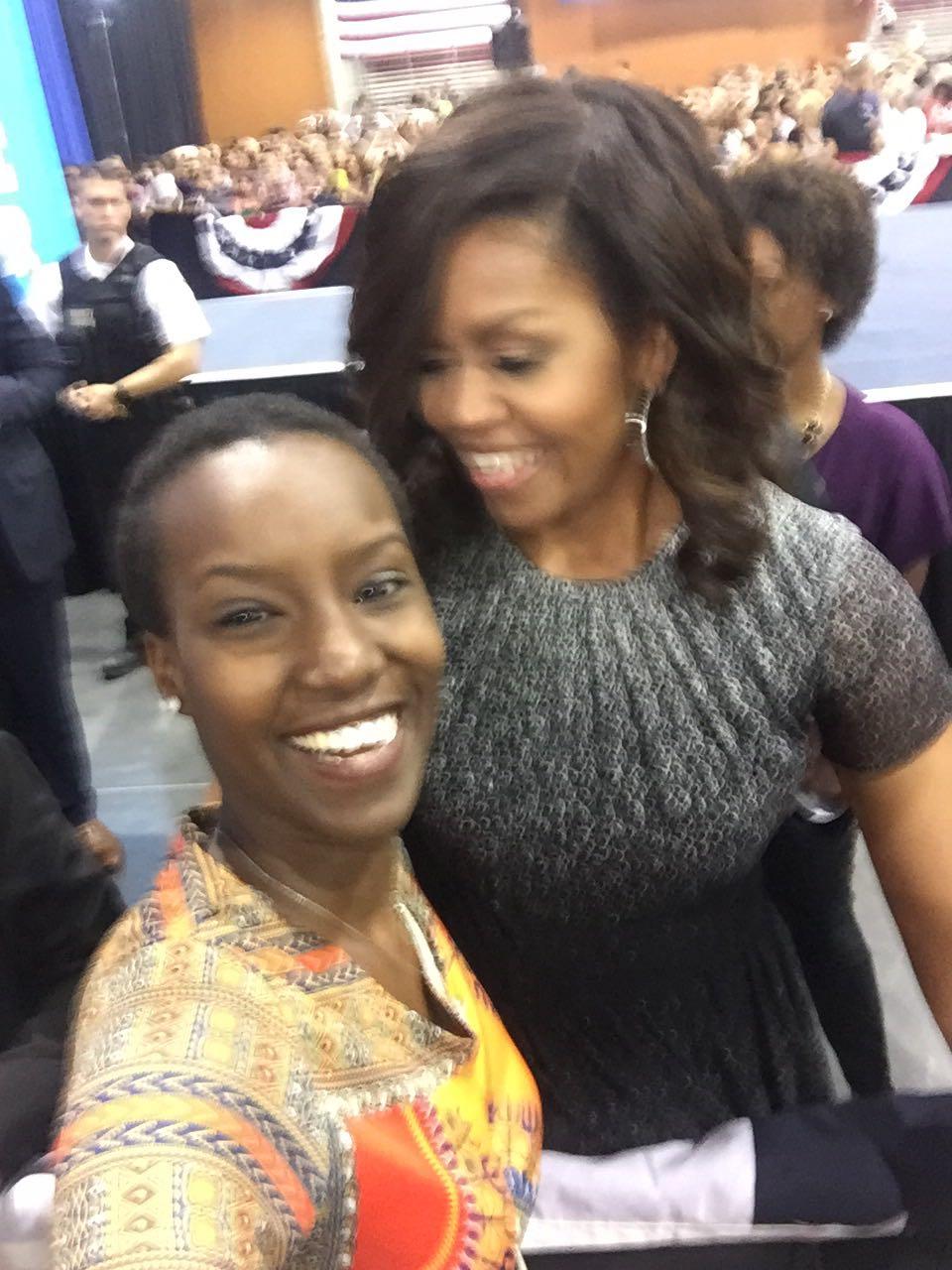 Khéilla Marie Ndayikeza, Miss Burundi 2010 et Michelle Obama