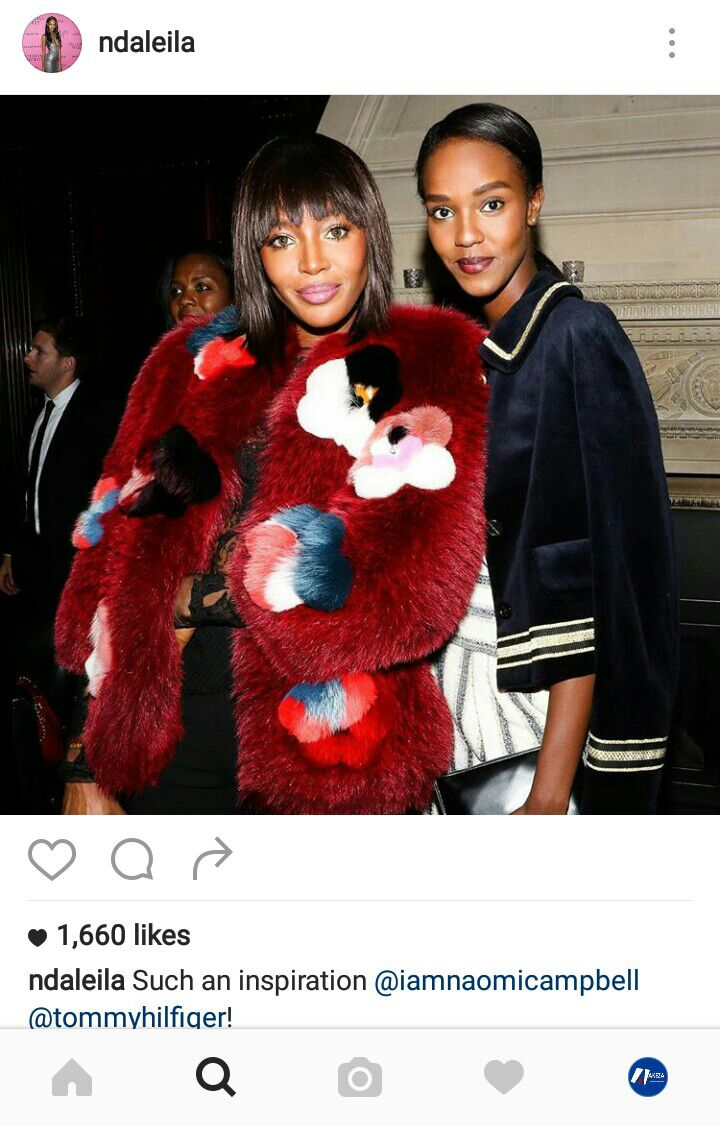 Leila Nda et  Naomi Campbell