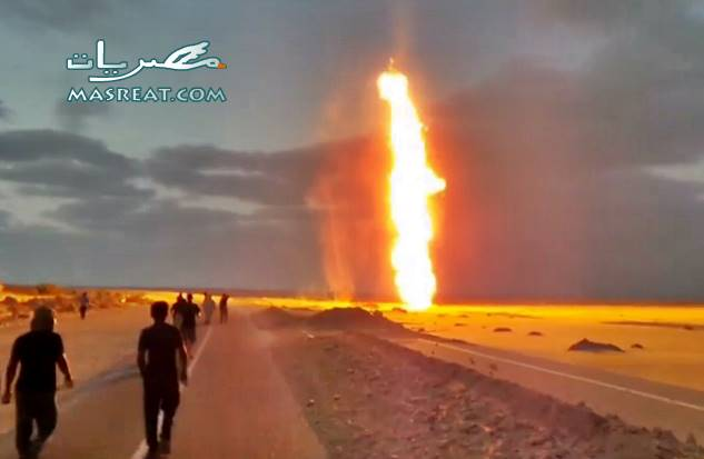 حادث تفجير خط الغاز الموصل للاردن في شمال سيناء اليوم