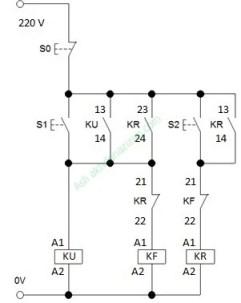 rangkaian kontrol motor listrik forward reverse