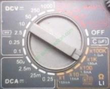 cara menggunakan avometer (ohm meter)