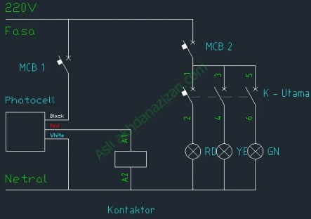 Pemasangan Photocell Untuk Menyalakan Lampu