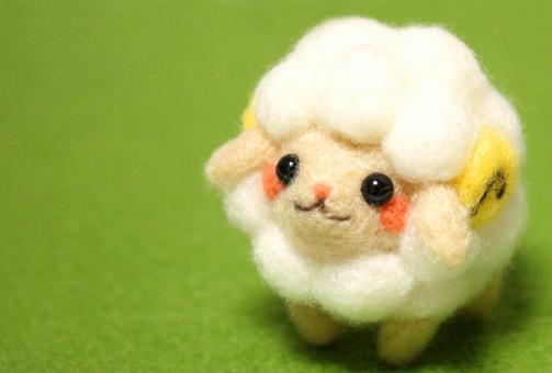 ハンドメイドの羊毛フェルト