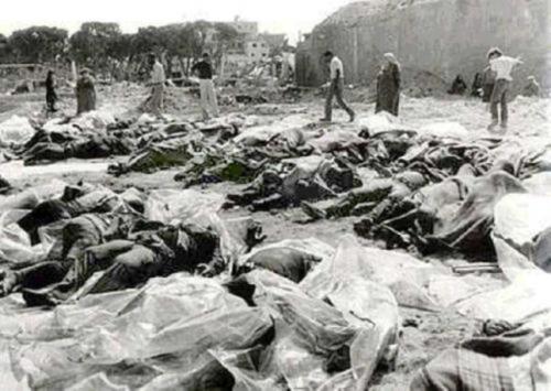 Halottak Kafr Kassemnél 1956-ban