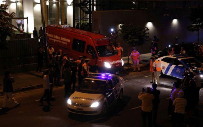 Alberto Nisman holttestét szállító mentő