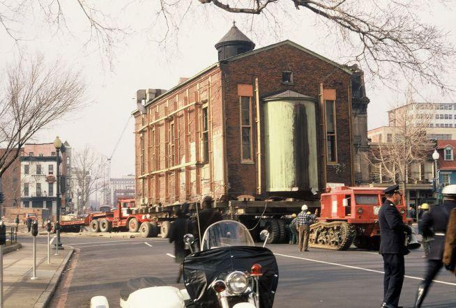 A zsinagóga költöztetése 1969-ben