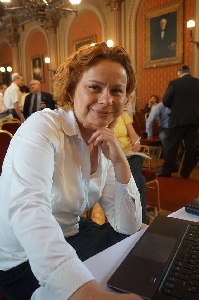 Deák Andrea, a Magyar Zsidó Kulturális Egyesület ügyvezetője