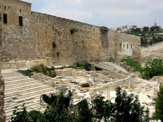 A Templomhegy egy másik részlete, ahol évekkel ezelőtt is találtak Akra erődítményének maradványaiból