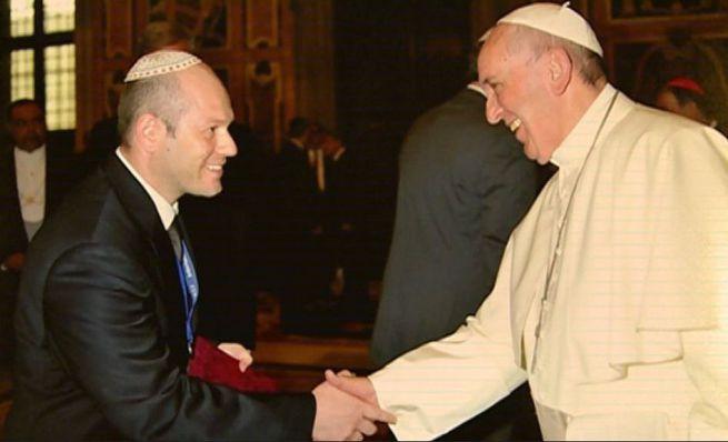 Róna Tamás rabbi és Ferenc pápa