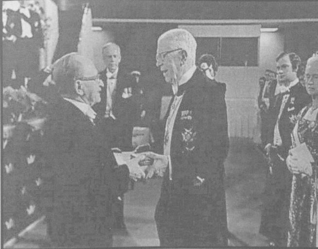 Gábor Dénes a Nobel díj átvételekor