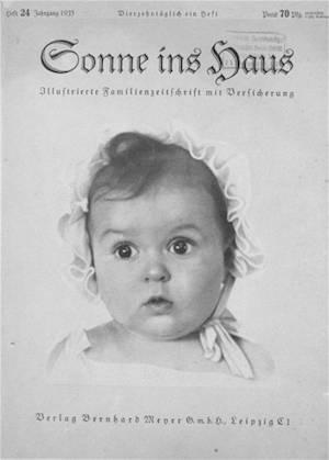 A tökéletes árja a Sonne ins Haus náci magazin címlapján