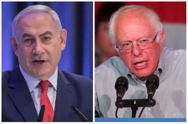 Benjamin Netanjahu és Bernie Sanders