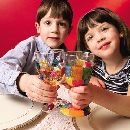 Kidduspoharak készítése üvegfestékkel