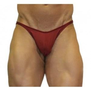 Akieistro® Men's Professional Bodybuilding Posing Suit - Solid Burgundy - Front View