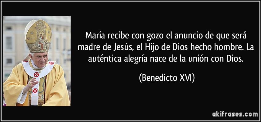 Resultado de imagen de Benedicto XVI y María