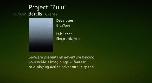 Project Zulu de Bioware