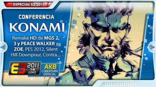 E3 2011 Conferencia Konami Lateral
