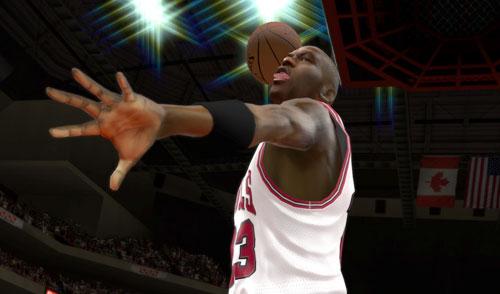 Michael Jordan destrozando el aro en NBA 2K12