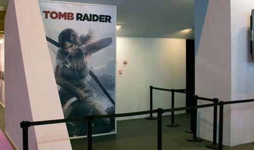 Stand de Tomb Raider en el GameFest 2011