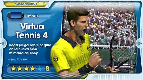 Análisis de Virtua Tennis 4 para PS Vita