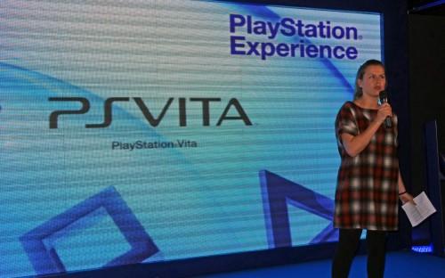 Mónica Revilla en la presentación de PS Vita en Madrid