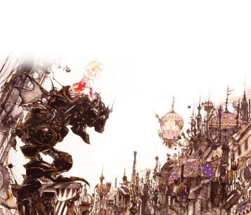 Arte de Yoshitaka Amano para Final Fantasy VI