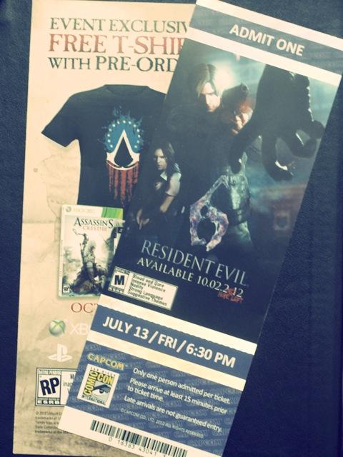 Pase para jugar a Resident Evil 6 en la Comic-Con 2012