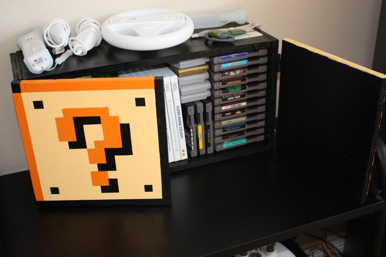 Akb Bricogamer V Guarda Juegos Cd S De Mario Block # Muebles Para Poner Xbox