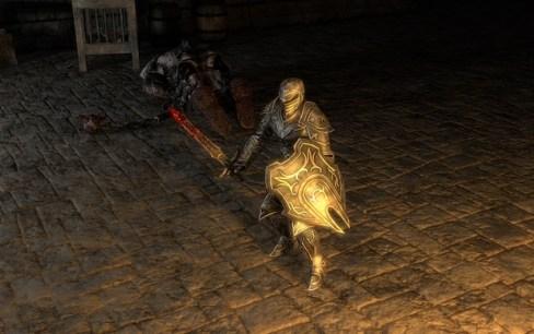 Caballero Armado Con Escudo y Sangre en la Espada Busca Esposa