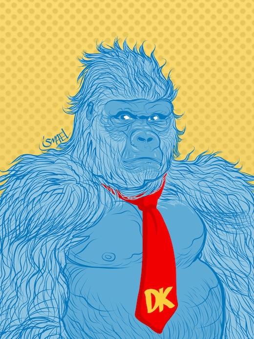 Donkey Kong, por Ismael Álvarez