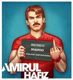 Super Mario, por Amirul Hafiz