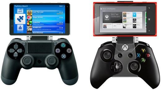 Los mandos de PS4 y Xbox One, lado a lado